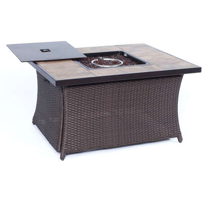 Hanover  Coffee Table  LP Gas  Metal  Outdoor Fireplace  23.5 in. H x 35.8 in. W x 43.8 in. D