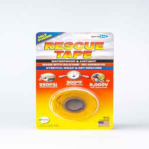 Rescue Tape  1 in. W x 12 ft. L 6 oz. Silicone Tape  Yellow