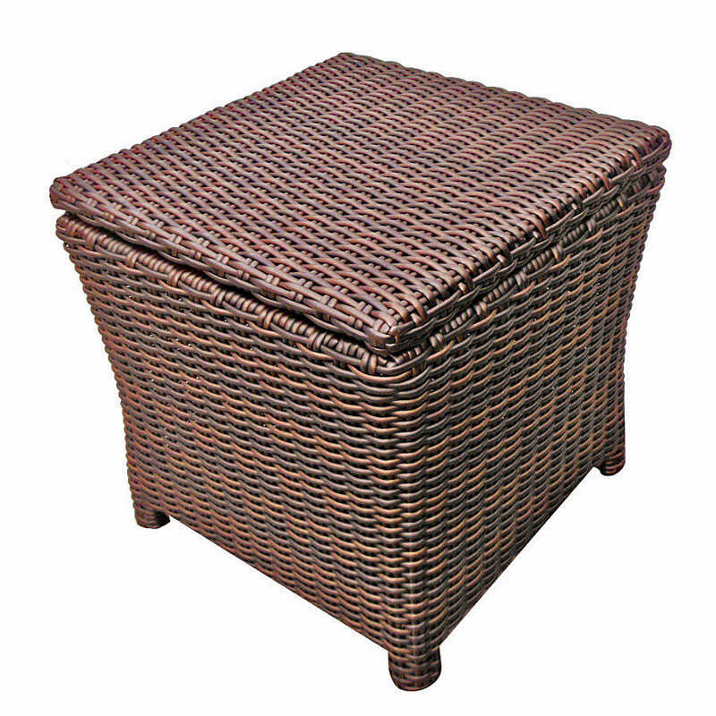 Chicago Wicker  Mahogany  Valencia  End Table  Square