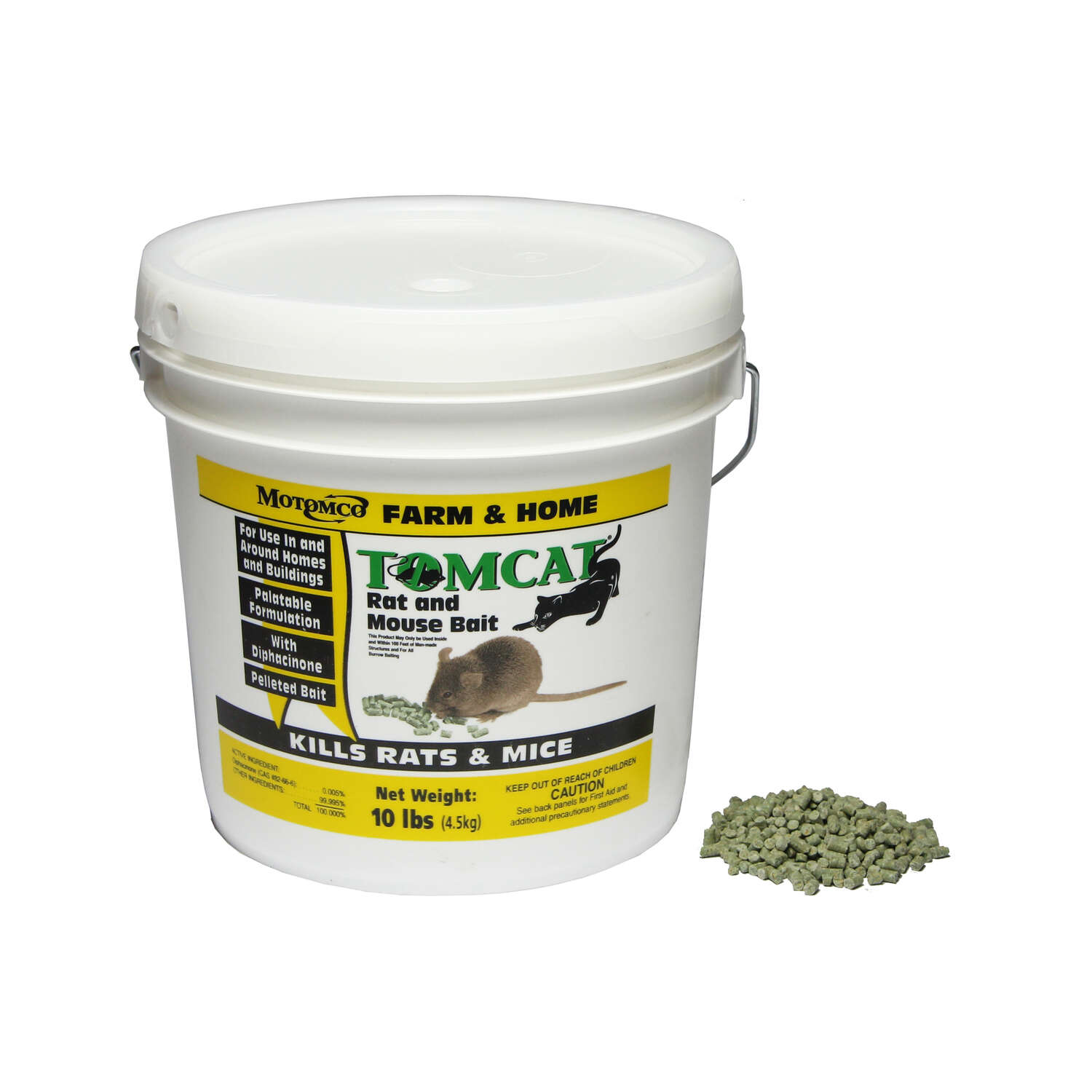 Motomco  Tomcat  Bait  Pellets  For Mice and Rats 10