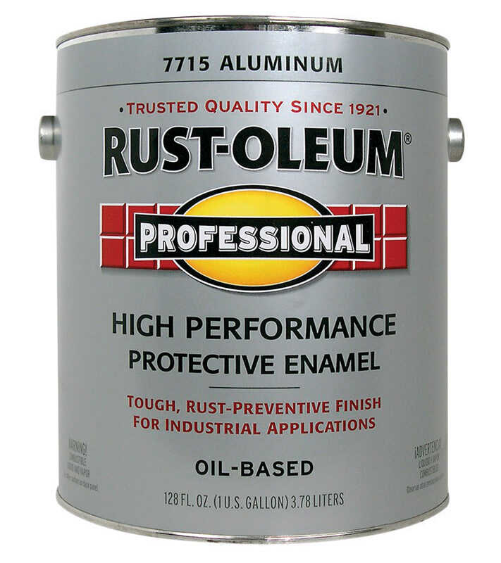 Rust-Oleum  Oil-based Protective Enamel Paint  128 oz. Aluminum  Gloss