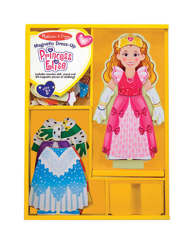 Melissa & Doug  Princess Elise Magnetic Dress-Up Set  Wood