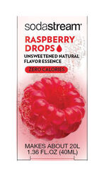 SodaStream  Raspberry Drops  Sparkling Water Mix  1.36 oz. 1 pk