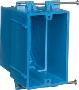 Carlon  Super Blue  Rectangle  Thermoplastic  1 gang Electrical Box  Blue  1 Gang  3-3/4 in.