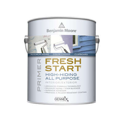 Benjamin Moore  Fresh Start  White  Low Lustre  Acrylic Latex  Primer  Exterior and Interior  1 gal.