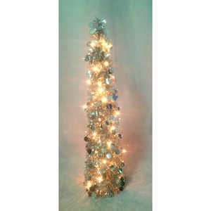 FC Young  Silver  Plastic and Metal  1 each Artificial Tree