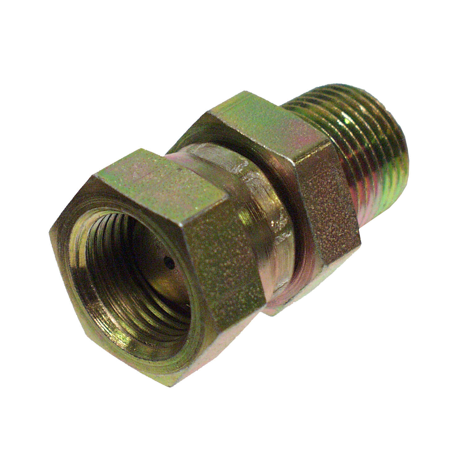 Apache Steel 1/2 in. Dia. x 1/2 in. Dia. Hydraulic Adapter 1 pk