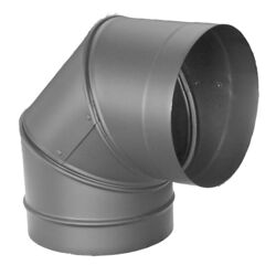 DuraVent  DuraBlack  6 in. Dia. x 6 in. Dia. Adjustable 90 deg. Galvanized Steel  Stove Pipe Elbow