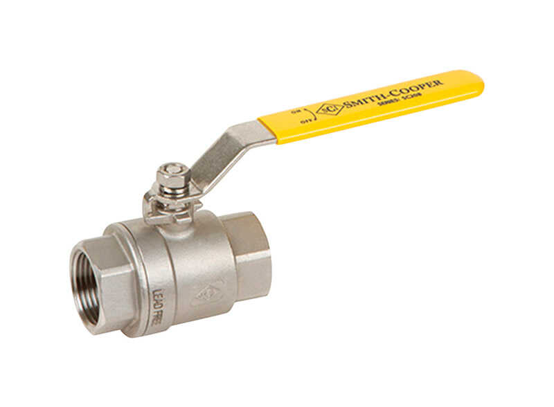 Smith Cooper  Ball Valve  3/4 in. Dia. x 3/4 in. Dia. Stainless Steel