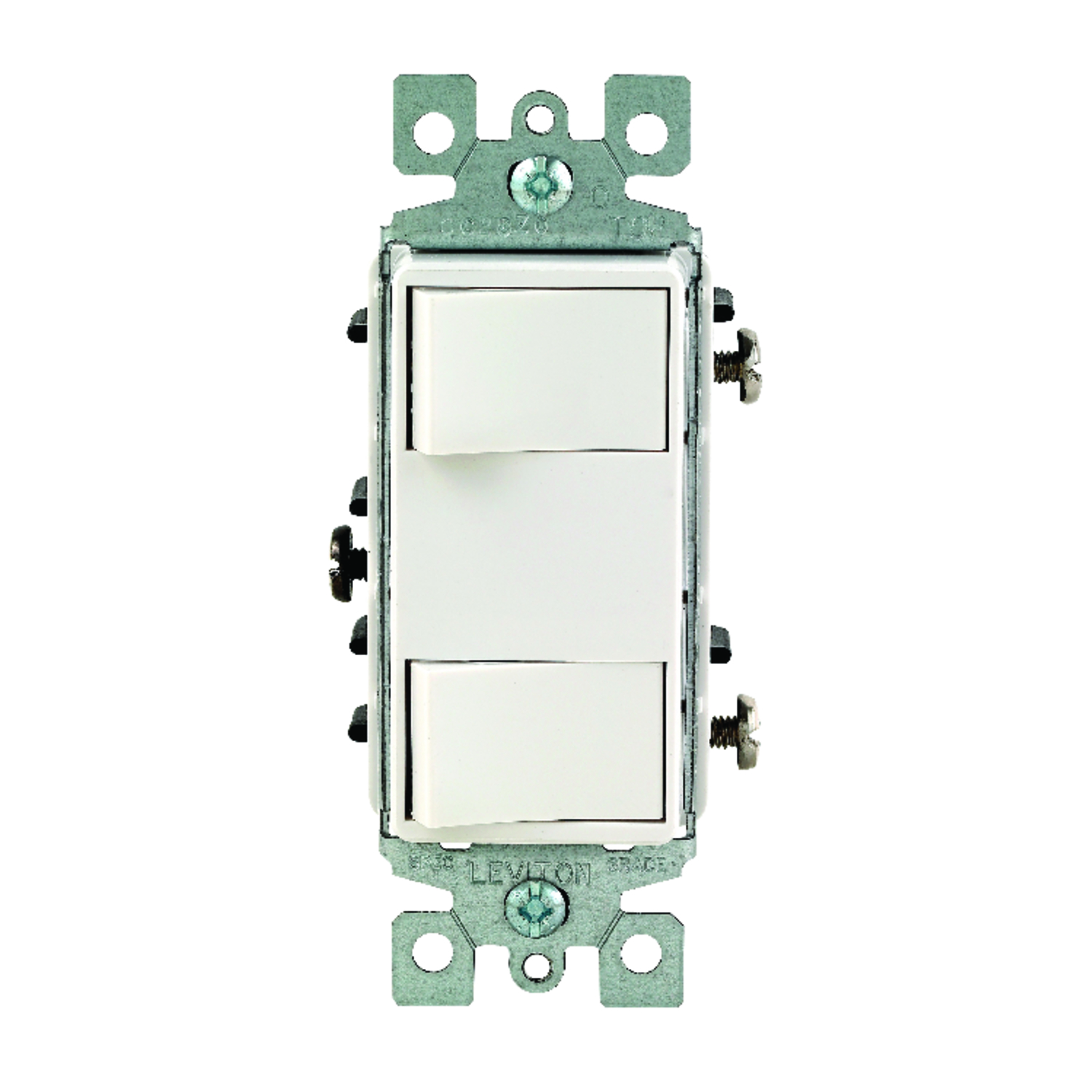 Leviton  15 amps Rocker  Decora  White  1 pk Switch