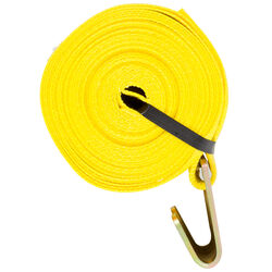 Keeper  4 in. W x 30 ft. L Yellow  Winch Strap  5000 lb. 1 pk