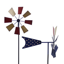 Alpine  Metal  Assorted  52 in. H Patriotic  Windmill