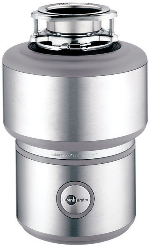 InSinkErator  Garbage Disposal  1 hp Stainless Steel/Light Gray