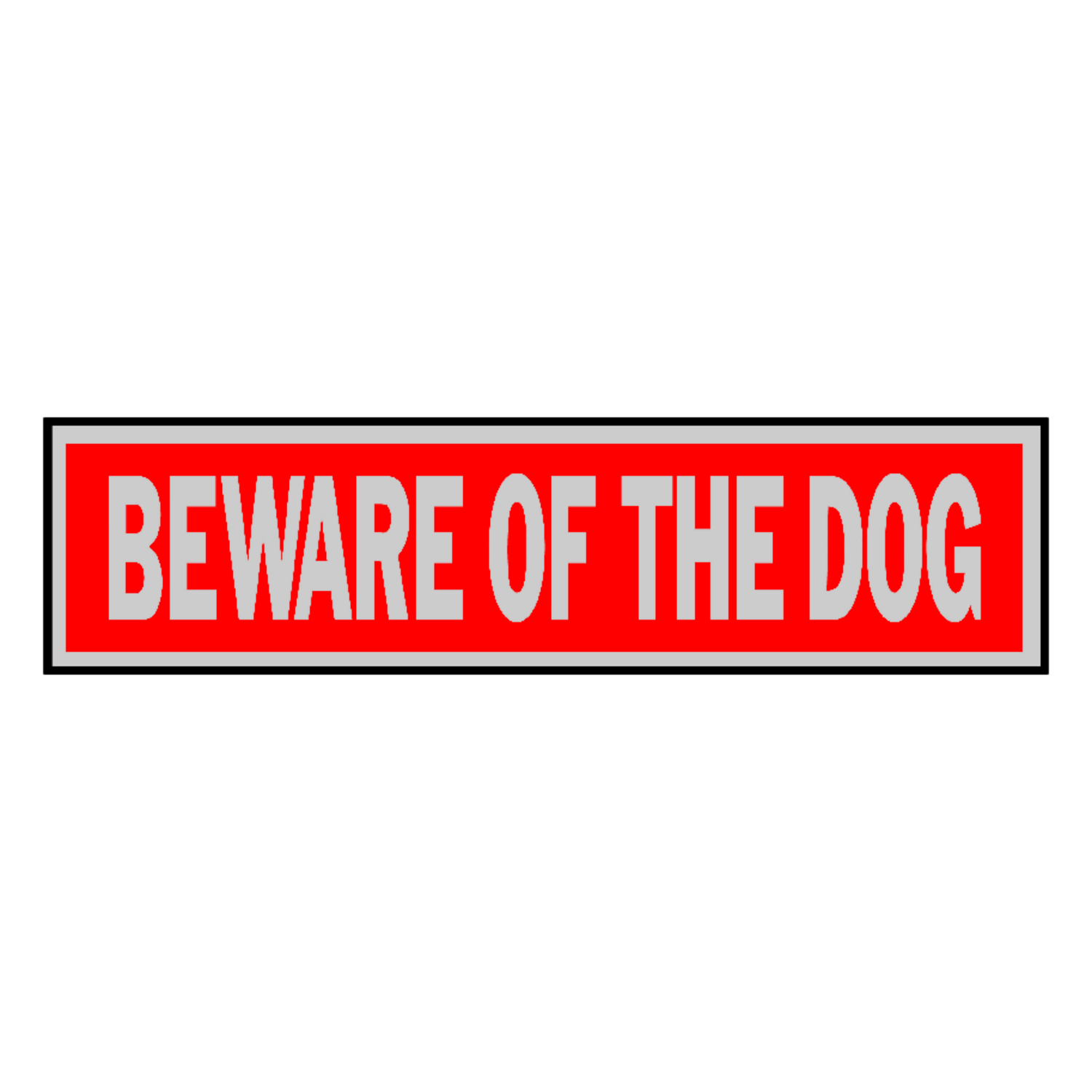 Hy-Ko  English  2 in. H x 8 in. W Sign  Aluminum  Beware of Dog