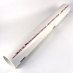 Charlotte Pipe  Schedule 40  PVC  Solid Pipe  3 in. Dia. 2 ft. Plain End  260 psi