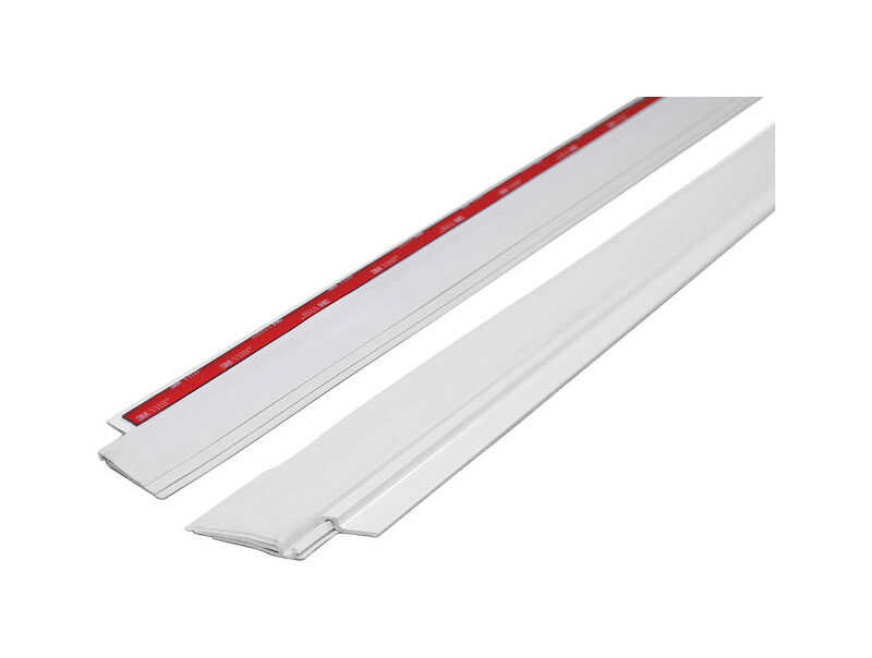 M-D Building Products  White  Aluminum  Weather Stripping  For Door Bottom 3 ft. L x 1/4 in.