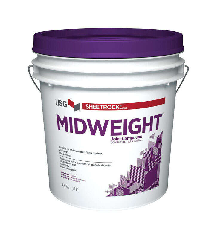 Sheetrock  White  Midweight  Joint Compound  4.5 gal.