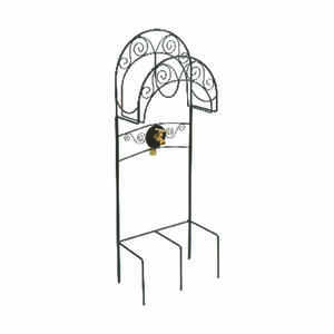 Liberty Garden Products  125 ft. Free Standing  Decorative  Black  Hose Holder