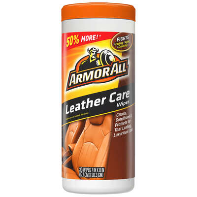 Armor All  Leather  Cleaner/Conditioner  Wipe  20 count