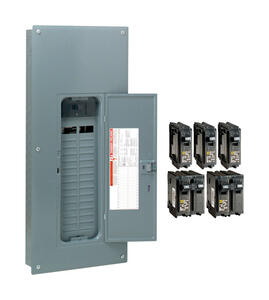 Square D  HomeLine  200 amps 120/240 volt 30 space 60 circuits Wall Mount  Main Breaker Load Center