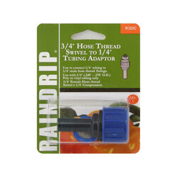Raindrip Threaded 3/4 in. Drip Irrigation Swivel Adapter 1 pk