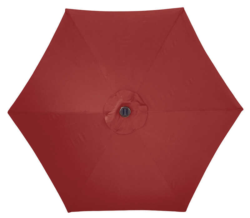 Tiltable Red Patio Umbrella - Living Accents MARKET 9 Ft. Tiltable Red Patio Umbrella - Ace Hardware