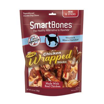 SmartBones  Chicken & Vegetables  Chews  For Dog 6.6 oz. 15 pk