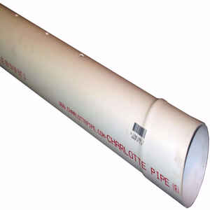 Charlotte Pipe  10 ft. L x 4.215 inch  Dia. PVC  Perforated Sewer And Drain Pipe