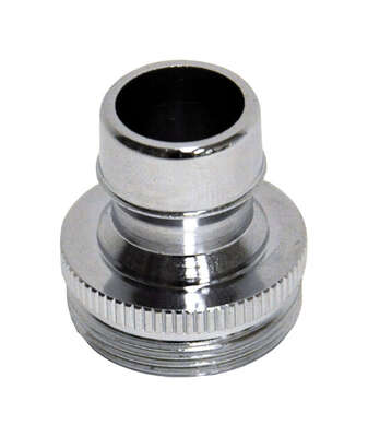Danco Dual Thread 15/16 in.-27 or 55/64 in. Chrome Dishwasher Adapter