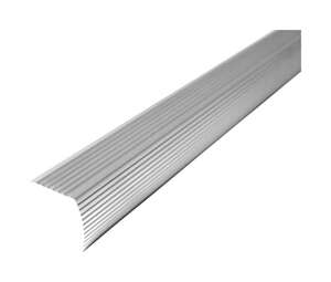 M-D Building Products  Cinch  36 in. L Prefinished  Aluminum  Stair Edge  Silver