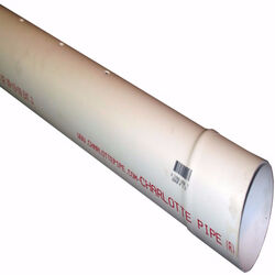 Charlotte Pipe PVC Perforated Sewer and Drain Pipe 4 in. Dia. x 10 ft. L Bell