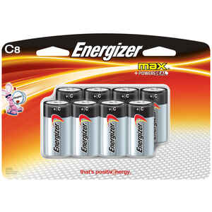 Energizer  MAX  C  Alkaline  Batteries  8 pk 1.5 volts Carded