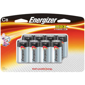 Energizer  MAX  C  Alkaline  Batteries  8 pk Carded  1.5 volts