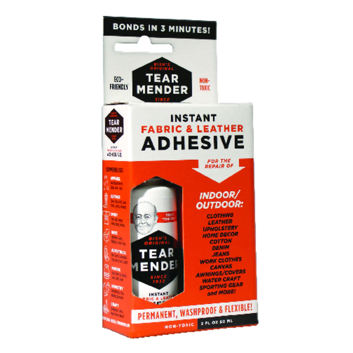 Tear Mender  High Strength  Liquid  Fabric & Leather Adhesive  2 Oz