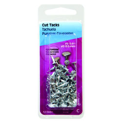 Hillman  No. 10   x 5/8 in. L Galvanized  Silver  Steel  Cut Tacks  1.75 pk