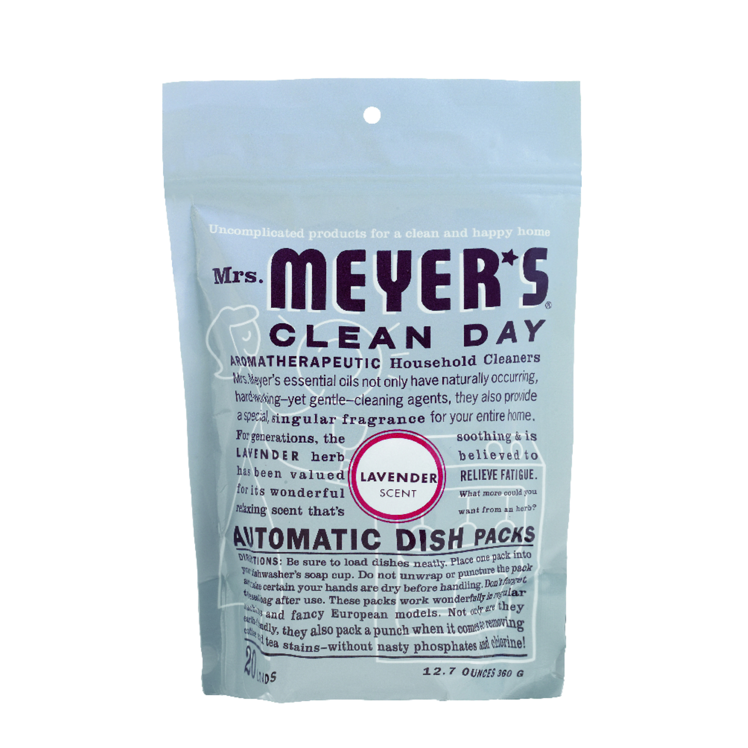 Mrs. Meyer's  Lavender Scent Powder  Dishwasher Detergent  12.7 oz. 20 pk