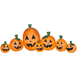 Gemmy  Pumpkin Harvest  Halloween Inflatable  11.81 in. H x 7.87 in. W x 7.87 in. L 1 pk