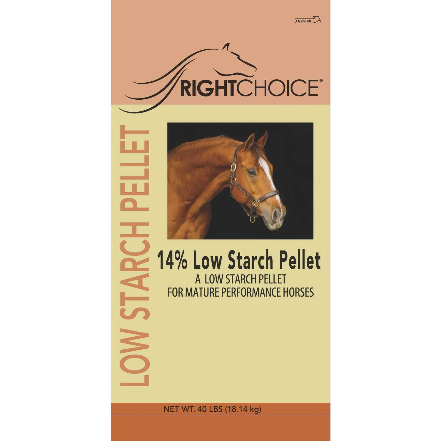 Right Choice  Low Starch Feed  Pellets  For Horses 40 lb.