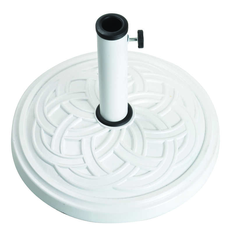 Bond  White  Resin Stone  Umbrella Base  17.7 in. L x 17.7 in. W x 13.18 in. H