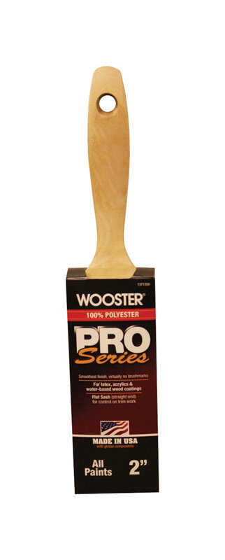 Wooster  Pro Series  2 in. W Flat  Polyester  Paint Brush