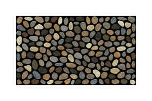 J & M Home Fashions  Pebbles  Rubber  Nonslip Door Mat  30 in. L x 18 in. W