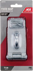 Ace  Zinc  7-1/4 in. L Fixed Staple Safety Hasp