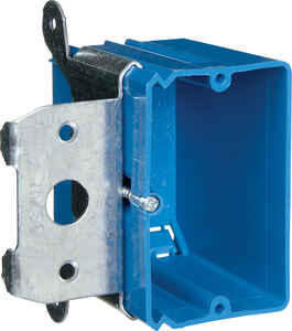 Carlon  3-3/4 in. Rectangle  Outlet Box  Blue  PVC  1 gang