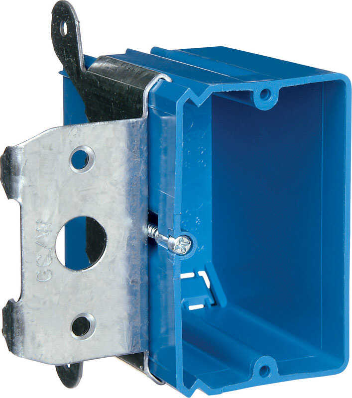 Carlon  3-3/4 in. 1 gang Outlet Box  Rectangle  PVC  Blue