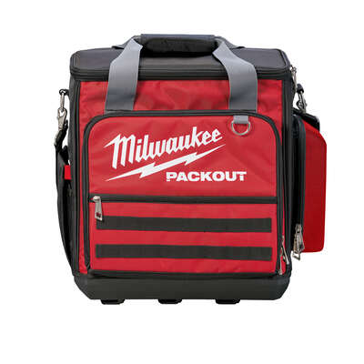 Milwaukee  PACKOUT  10.63 in. W x 17.72 in. H Ballistic Nylon  Tech Bag  58 pocket Black/Red  1 pc.