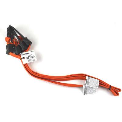 Keeper  Orange  Flat Bungee Cord  36 in. L x 0.315 in.  2 pk