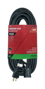 Ace  Indoor  50 ft. L Extension Cord  16/3 SJO  Black