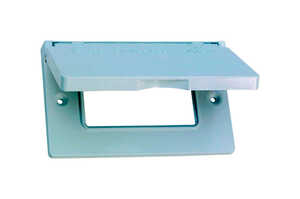 Sigma  Rectangle  Aluminum  1 gang Electrical Cover  For Horizontal Mount