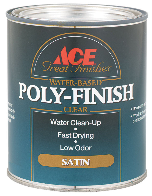Ace  Clear  1 qt. Water Based Poly-Finish  Satin