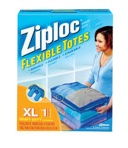 Ziploc  Flexible  10.9 in. H x 16 in. W x 13 in. D Storage Tote